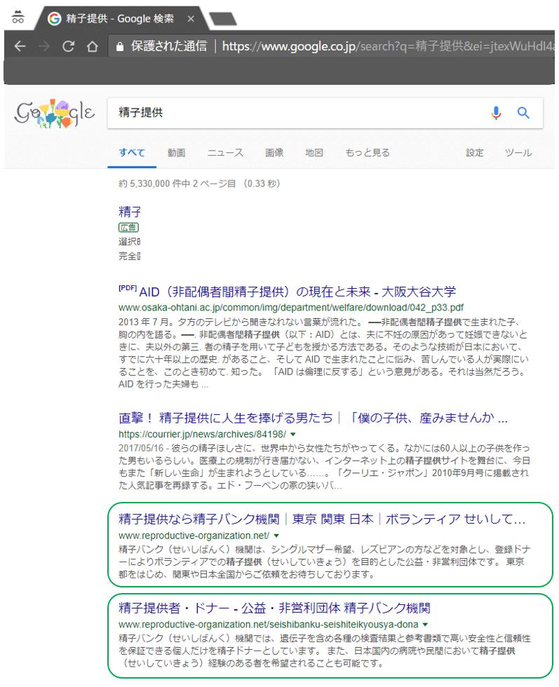 精子提供バンク 東京 関東